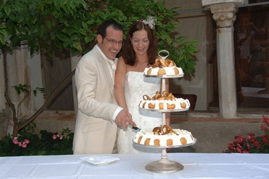 Amalfi Coast Wedding Cake