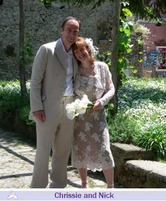 Chrissie and Nick, wedding testimonials from United Kingdom