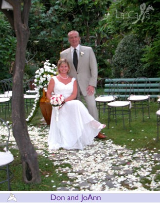 Don and Joann, wedding testimonials from United States