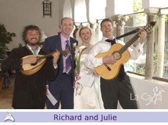 Richard and Julie, wedding testimonials from United Kingdom
