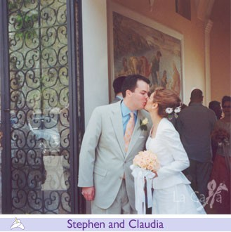 Stephen and Claudia, wedding testimonials from United States